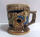 This Vintage Ceramic Mustache Stein Shaving Cup Mug was made in Japan in the 1950's  This is a very nice shaving cup/mug/stein. It was a great estate find. No cracks or chips .