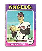 Vintage Topps #500 Nolan Ryan California Angels Baseball Card - 1975
