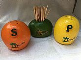Florida citrus souvenir salt, pepper, toothpick holder