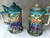 Ceramic Florida souvenir salt and pepper shakers G Nov Co Japan