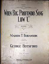 This piece of sheet music was published in 1921 by Jerome H. Remick & Company.  It was arranged for the piano by George Botsford, and the lyrics written by Marion T. Bohannon.  This music will be a great acquisition for anyone that enjoys playing, sin