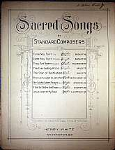 This piece of sacred sheet music was probably published in 1912 by Henry White.  It was arranged for the piano by R. S. Ambrose, and the lyrics written by Phoebe Cary.  This music will be a great acquisition for anyone that enjoys playing, singing to, or