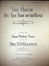 This piece of sheet music was published in 1927 by the Oliver Ditson Company .  It was arranged for the piano Mrs. M. H. Gulesian, and the lyrics written by Sam Walter Foss.  This music will be a great acquisition for anyone that enjoys playing, singing t