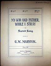 This piece of antiquarian sheet music was published in 1884 by Arthur P. Schmidt.  It was arranged for the piano, and the lyrics presumably written by George W. Marston.  This music will be a great acquisition for anyone that enjoys playing, singing to, o