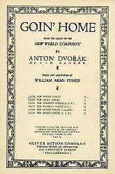 This sheet music was published in 1922 by the Oliver Ditson Company. It was arranged by Anton Dvorak and the lyrics written by William Arms Fisher. This music will be a great acquisition for anyone that plays, sings, or collects the choral music of the 19