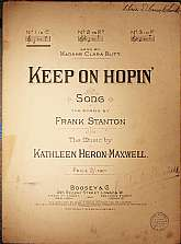 This piece of antiquarian sheet music was published in 1915 by the Boosey & Company.  It was arranged for the piano by Kathleen Heron-Maxwell, and the lyrics written by Frank Stanton.  This music will be a great acquisition for anyone that enjoys play