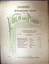This antiquarian sheet music was published by the Century Music Publishing Company of New York in 1910.  The music was arranged by a M. Greenwald.  This is instrumental sheet music only.  It has sheets for the piano, and both the first and second violin.