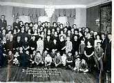 This is a photograph of the guests at a dinner thrown in honor of the Bar Mitzvah of a Benjamin Krentz on April 8, 1923. This photograph will probably appeal to any collector of Judaica, and possibly any with the surname of Krentz.  A relative?  I would t