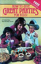 This 1983 instructional booklet will be a trip down memory lane, mostly because of the graphics.  They are almost 70ish!  Do you have a child you want to throw a party for?  This booklet will possibly provide you with some great ideas for entertainment, a