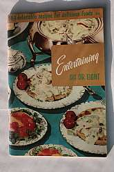 This cook book was published by the Culinary Arts Institute of Chicago, IL in 1965.  The book has 143 recipes for entertaining parties of six or eight guests.  This cook book will be a great addition to a collector's library of cook books, in addition to