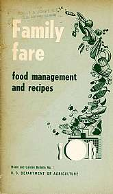 This is a government-published cookbook, U.S. Department of Agriculture - Home and Garden Bulletin No. 1.  It is full of interesting charts and tables, even tables suggesting how long some vegetables should be boiled prior to serving (cut up celery for 15