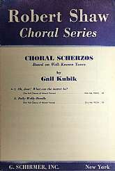 This piece of choral sheet music was published in 1949 by the G. Schirmer, Incorporated company.  It was arranged by, and the lyrics written by Gail Kubik.  This music will be a great acquisition for anyone that plays, collects, or enjoys singing the musi