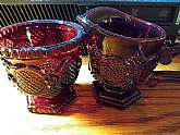 This is a vintage Avon Cape Cod sugar bowl and creamer set.  In excellent condition and only one owner.