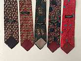 Five Vintage Christian Dior TiesChristian Dior Ties' lover, from Monday to Friday, you can have all  Christian Dior Ties choices.All SilkMade in the USAFabric Woven in Italy.