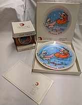 1978 Walt Disney Christmas plate and ornament.