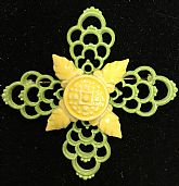 This Accessocraft Maltese Cross 70s is from old dead stock & has never been worn. Condition is excellent.