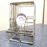 "Vintage Gatherette Collator Expandable Stainless Steel Accordion File Holder Desk Accessory Display Album Holder 10.25""H x 9""W x 7""D expands to 57""WIn good working condition, minor wear and scratchesThank You"