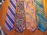 collection of vintage men's ties from 40's to the  80's