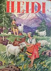 Heidi by Johanna Spyri Illustrated by Ethel VernonRacine WI. Whitman Publishing. (1934). Hardcover. Condition: Fair. No Jacket. HC. Illus. boards. 284pp. Illustrated in black and white drawings by Ethel Vernon. Spine split, hinges very weak but holding;