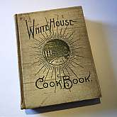 Rare Collectible Cookbook.The White House Cookbook, A Comprehensive Encyclopedia of Information for the Home, was written by Hugo Ziemann and Mrs. F. L. Gillett (A steward of the White House).  It was published by The Saalfield Publishing Company, 1900.