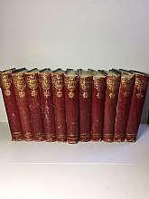 "Adam & Charles Black, Edinburgh, 1886, 12 volumes (partial set). Three quarters green cloth with red leather spines. Aproximately 7"" x 5"". Gilt tooling to the spine. All illustrated and each with a frontispiece illustration, some with tissue"