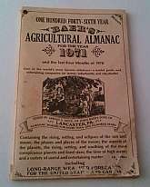 Baer's Agricultural Almanac For The Year 1971 And The Last Four Months Of 1970Paperback, some damage to the back cover.