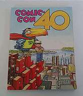 This is the SDCC Comic Con 40TH Anniversary Souvenir Book.  This is 2009 book. This has 40 years of memories from Comic Con in San Diego. Inside is information on movies, comics, tv.  Comic Con now covers the entertainment industry and not just comic's an