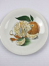 "Clarice Cliff Plate ""Sunkissed"" Royal Staffordshire Handpainted Rare Vintage Plate"
