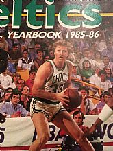Official Yearbook 1985-1986 of the CELTICS featuring Larry Bird on the cover