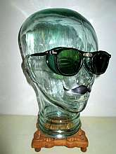 "Up for  sale is a very cool pair of RARE""Antique Green Folding WILLSON Shield Wayfarer Sunglasses Goggles ""!"