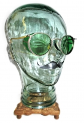 "Up for sale is a very RARE nice pair of""Antique American Optical Green Ful-Vue Shield Goggle Sunglasses""!"