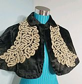 Vintage Antique Velvet Cape