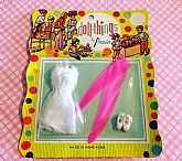 NOS doll outfit with fun backer card.
