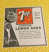 NOS label and bottle cap from when 7up contained Lithium.