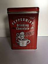Vintage Peppermint Chocolate Tin