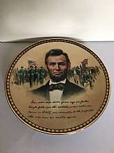 Abraham Lincoln Collectible Plate Portraits of Valor Gettysburg Address