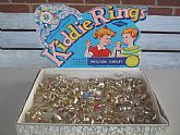 Vintage Dime Store Kiddie Rings Imitation Jewelry by SPESCO 1970's Mixed Lot of 125 Rings Faux Pearls Gold Tone Tin Metal Rhinestones Gumball
